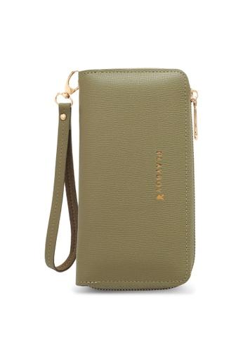 PLAYBOY BUNNY green Women's Long Zipper Purse A6AEAAC84BD57DGS_1