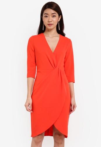 ZALORA orange Crossover Dress CE779AA651284DGS_1