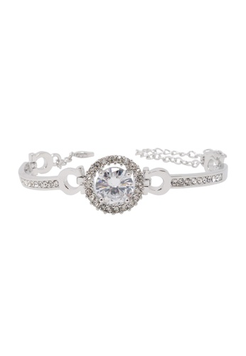 Jaysa Collection silver Elegant Princess Bracelet with AAA Zirconia JA875AC0F9MPSG_1