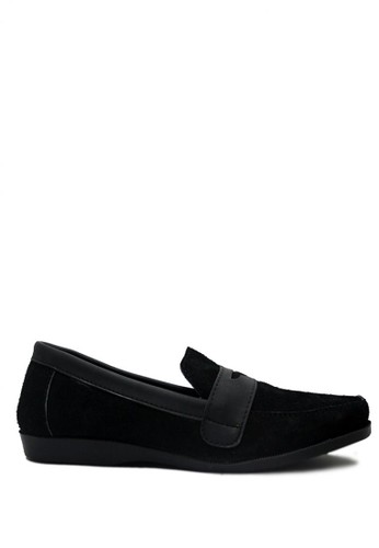 D-Island black D-Island Shoes Slip On Cowhide Comfort Genuine Leather Black DI594SH02GKFID_1