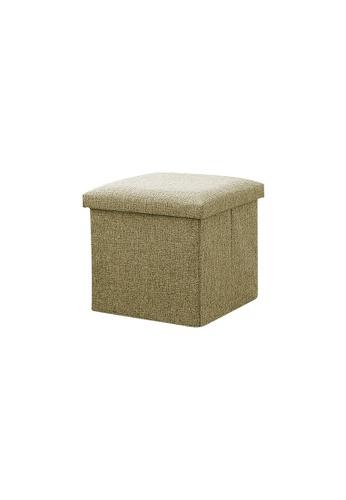 HOUZE green HOUZE - Foldable Fabric Storage Stool/Ottomans - 30cm (Green) 02725HLF2CFDE5GS_1