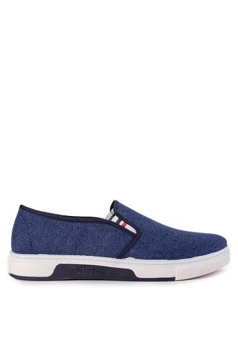 Declan blue Berlin Slip On Sneakers 7693ESH026EF6BGS_1