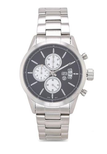 Massa Collections black Nobler Steel Black Silver Watch for Men EDABBACF69BBA6GS_1