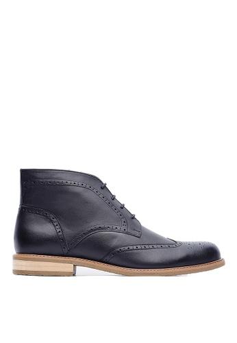 Life8 black British style Leather Oxford Leather Boots-09696-Black LI283SH0FUB6SG_1