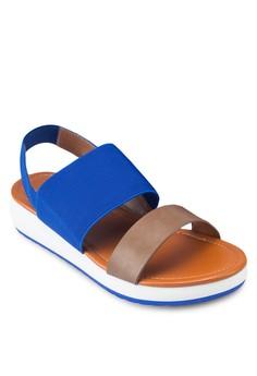 Duo Tone Elastic Sandals