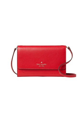 Kate Spade red Kate Spade Harlow Wallet On A String WLR00081 Hot Chili A2CAEAC42F0B73GS_1