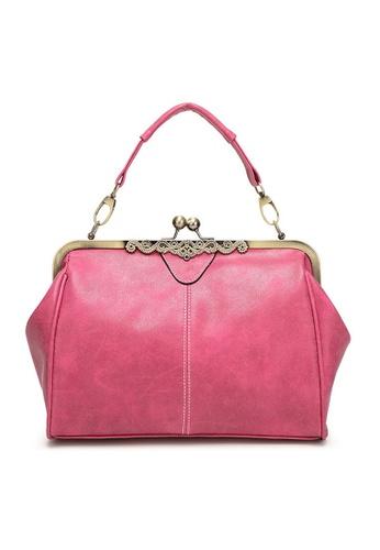 Twenty Eight Shoes red VANSA Retro Clip Buckle Hand Bag   VBW-Hb4008 756CAACAC18A50GS_1