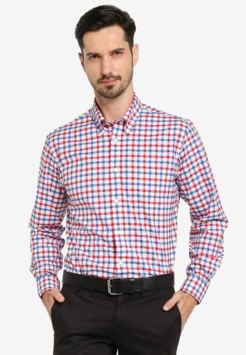 Brooks Brothers red and multi Regent Fit Non-Iron Sport Shirt 3B2CDAA616F4CFGS_1