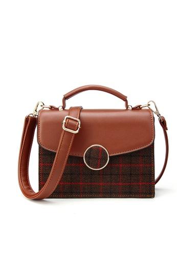 Lara brown Women Flapfront Lattice Sling Bag 449E1AC9C0B564GS_1