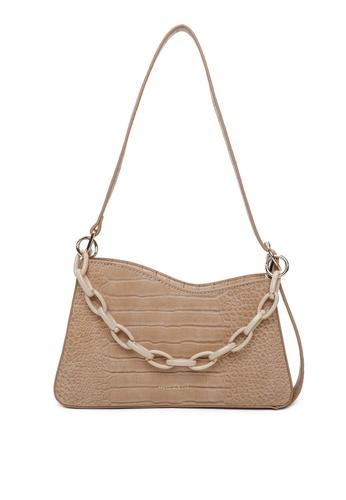 Milliot & Co. 褐色 Elizabeth Shoulder Bags 07D1EAC9735493GS_1