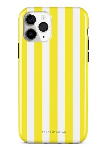 Polar Polar yellow Yellow Stripe Dual-Layer Tough Case Glossy For iPhone 11 Pro 603AEACDBCCCB6GS_1