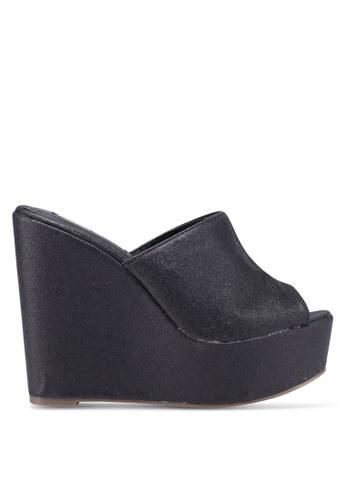Nose 黑色 閃亮楔型鞋 A8B12SHFA71D98GS_1