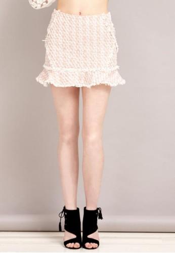 混色毛呢包裙, 服飾, 迷你esprit 工作裙