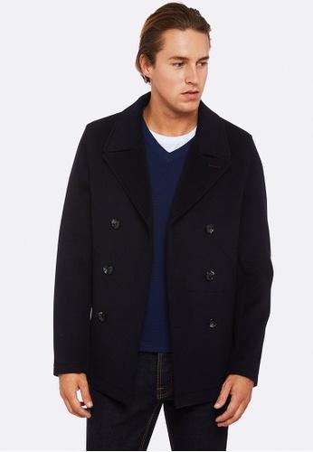 Oxford navy Samuel Pea Coat 3A513AA171C6BCGS_1