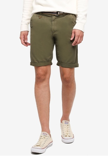 Indicode Jeans green Royce Shorts With Belt 9A7A5AAF559145GS_1