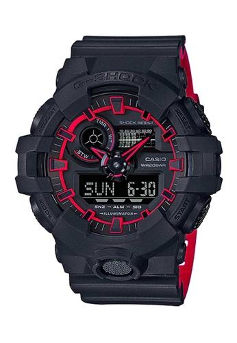CASIO black Casio G-Shock Red and Black Resin Watch 3CB5DACC376E25GS_1