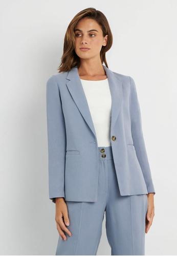 FORCAST blue FORCAST Mia Single Button Blazer D2B93AA717146DGS_1