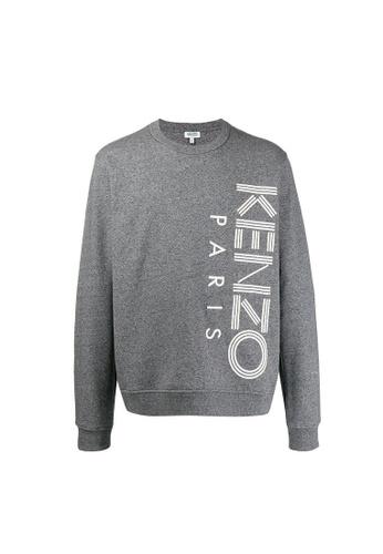 Kenzo grey Kenzo Logo Sweatshirt in Grey 7345DAAACE4579GS_1