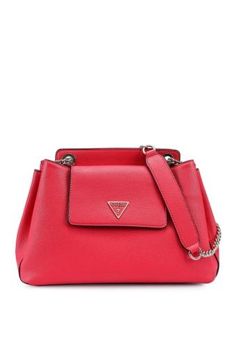 Guess red Sandrine Shoulder Satchel Bag 0AE31AC52F7E24GS_1