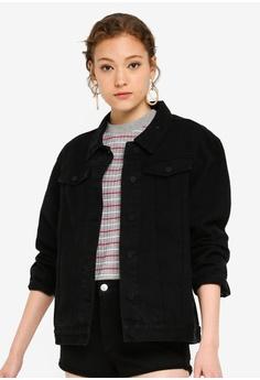 3ef11bb6 ZALORA BASICS black Basic Oversized Denim Jacket EE6E6AA09F8DD0GS_1
