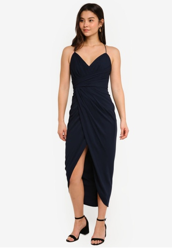 Forever New navy Charlotte Drape Maxi Dress 22A2CAAA6CCF38GS_1