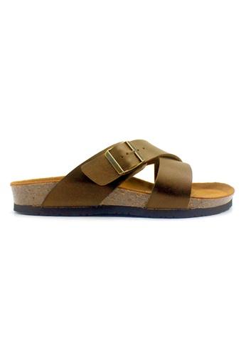 SoleSimple 褐色 Frankfurt - 駱駝色 百搭/搭帶 全皮軟木涼鞋 D0D3ESHCF344D5GS_1