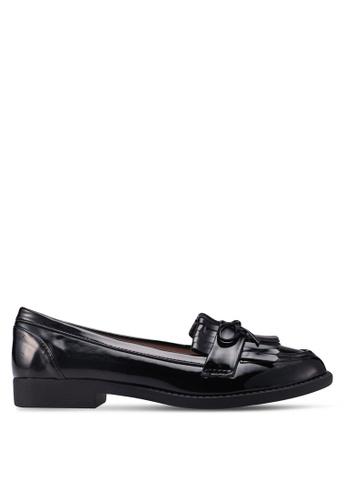 Dorothy Perkins black Black Patent Lotta Loafers DE62ESH7CAB941GS_1