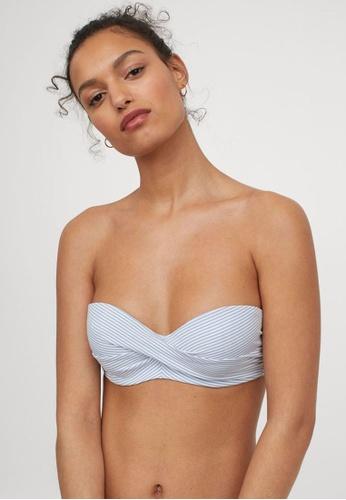H&M blue and multi Balconette Bikini Top B4A29US89A36D5GS_1