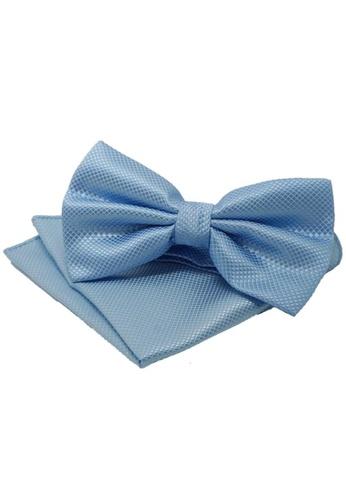 The Little Link Cufflinks blue Curtis Bow Tie & Pocket Square Set TH089AC0G2ZWSG_1