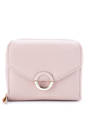 HUER pink Seyia 3 Fold Small Wallet With Coin Pocket 70946AC8551E9CGS_1