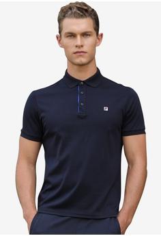 2993b9138d9d Fila navy Ginny Short Sleeve Polo Shirt FFADEAA8DA702BGS 1