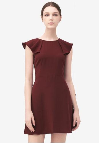 Kodz red Structured Minimal Dress AAE29AAADFCC28GS_1