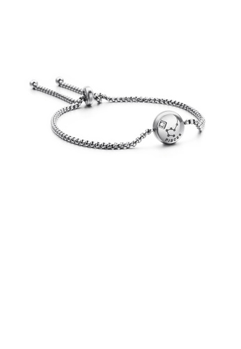 Glamorousky white Fashion and Simple Twelve Constellation Pisces 316L Stainless Steel Bracelet with Cubic Zirconia 7377DAC049EF0FGS_1