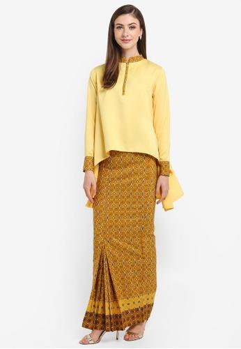 FLEURÉ yellow Solasta Kurung 860E9AA959E73DGS_1