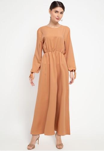 Zumara brown Sleeves Rope Gamis Dress 6C5BAAAEFC8991GS_1