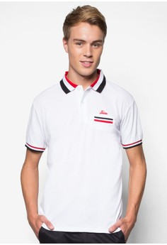 Contrast Lining Collar Polo Tee