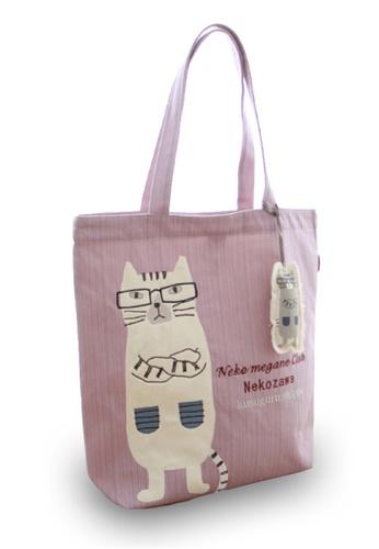 LULUGIFT purple Lulugift Kusuguru Shippo Nekozawa Mori Candy Tote Bag Light Purple LU989AC0SELWMY_1