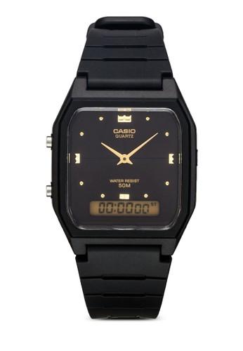 AW-48HE-1AVDF 雙esprit香港分店顯橡膠男錶, 錶類, 飾品配件