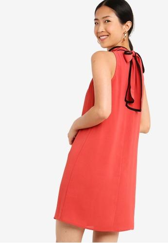 ZALORA BASICS brown Basic Dress With Contrast Piping 35784AA15B585DGS_1