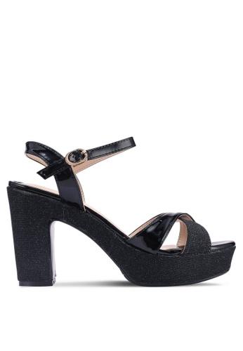Noveni black Patent Platform Heels 15C52SH331BE22GS_1