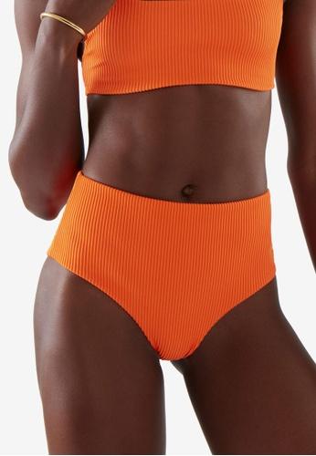 COS orange High Waisted Bikini Briefs B6B8CUS94776B2GS_1