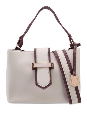 Unisa white Colour Block Convertible Top Handle Bag 7D4FEACFFDC1CBGS_1