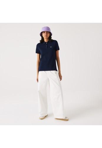 Lacoste navy Women's Lacoste Classic Fit Soft Cotton Petit Piqué Polo Shirt 9D9C8AA1A36A54GS_1