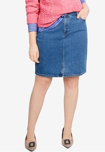 72709212f48 Violeta by MANGO blue Plus Size Medium Denim Skirt 5D2F3AAD3DE407GS 1