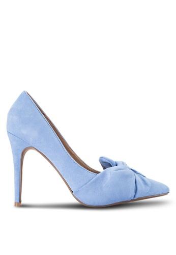Dorothy Perkins blue Blue Gotcha Twisted Bow Court Heels DO816SH89QXAMY_1
