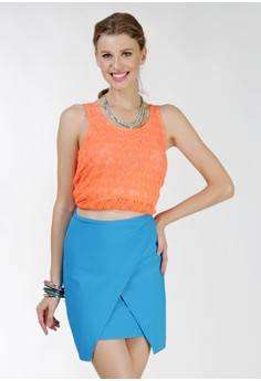 Farah Origami Overlap Skirt