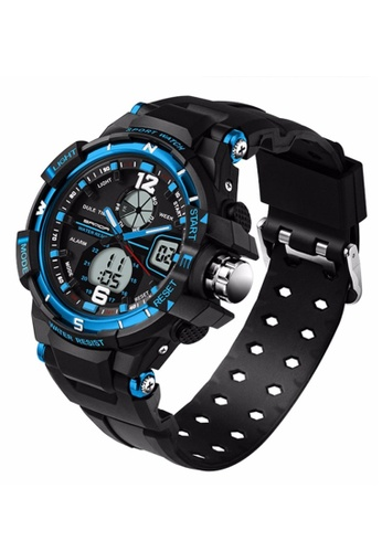 SANDA blue SANDA 289 Waterproof Outdoor Multifunctional Sports Men's Quality Shockproof Digital Watch (Blue) SA708AC0RXH9MY_1