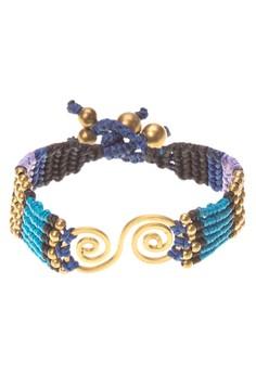 Macrame Brass Bracelet (Spiral)