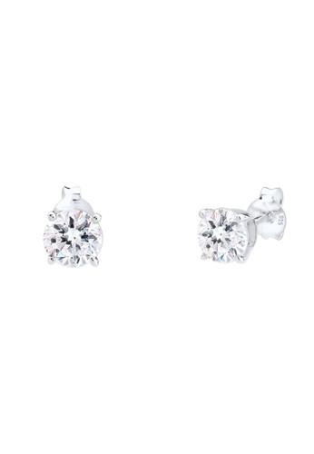 施華洛世奇水晶 925 純銀耳環, 飾品配件esprit旗艦店, 耳釘