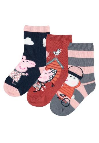 NAME IT multi Peppa Pig Sunri 3-Pack Socks 3B25CKA74E90EAGS_1
